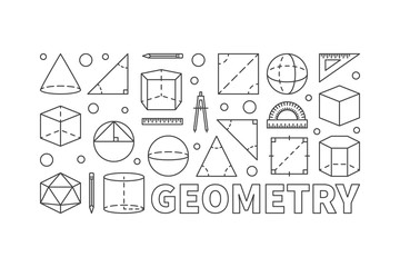 Geometry vector concept line horizontal banner
