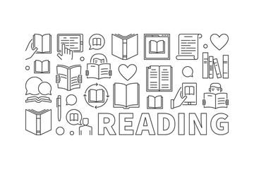 Reading modern vector illustration
