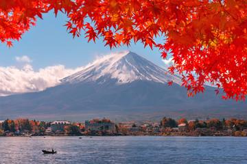 Autumn at Fuji mountain in Japan.