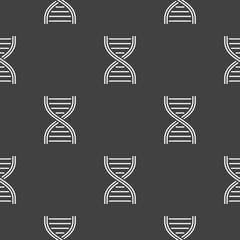 DNA concept geometric dark seamless pattern