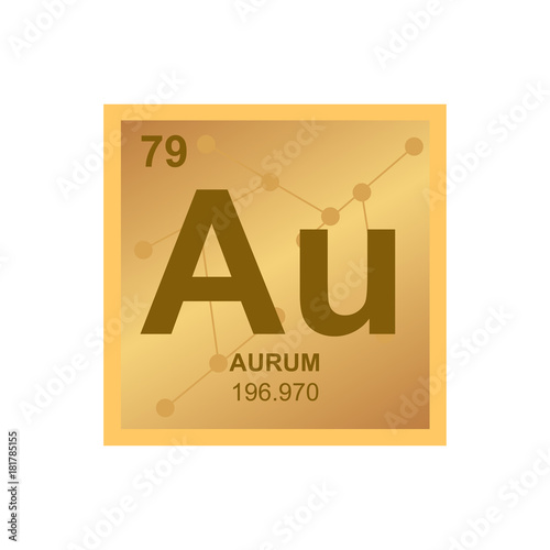 Vector symbol of gold from the periodic table of the elements on the vector symbol of gold from the periodic table of the elements on the background from connected urtaz Images