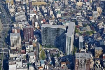 日本の都市の高層マンション