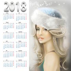 календарь с девушкой 2018
