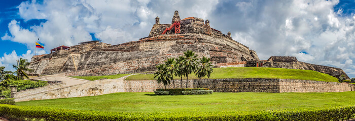 fortified castle of san felipe in the city of cartagena de indias