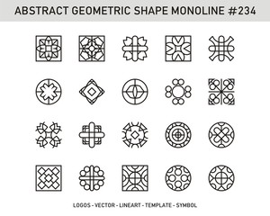 Abstract Geometric Shape Monoline, Stock Vector Design Pattern