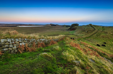 Cuddy's Crag on Hadrian's Wall in Northumberland, England