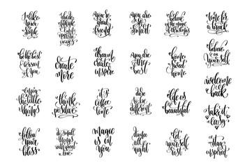 set of 25 hand lettering inscription motivation and inspiration
