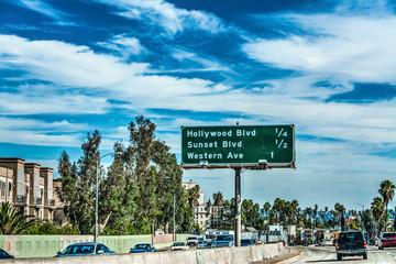 Traffic on a freeway in Los Angeles