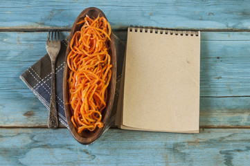 Spicy carrot salad, asian korean style