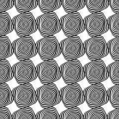 Abstract Seamless black and white stripes shape pattern. Vector illustration.