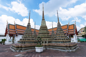 Wat Pho temple in Bangkok, Thailand..