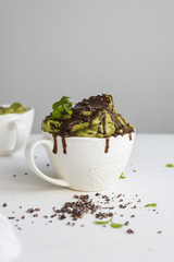 Matcha Chocolate Smoothie (Nice Cream)