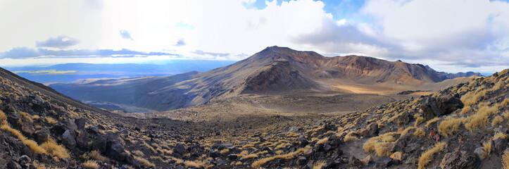 Panorama from Mount Doom in tongariro national park