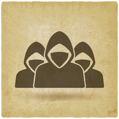 army of anonymous concept vintage background