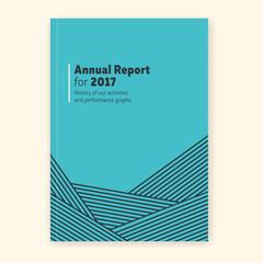 Annual report graphic template