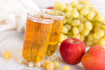 Grape and apple juice
