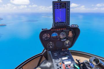 Hubschrauber über Whitsunday
