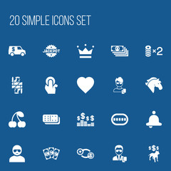 Set Of 20 Editable Excitement Icons. Includes Symbols Such As Thief, Berry, Stallion And More. Can Be Used For Web, Mobile, UI And Infographic Design.