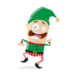 happy dancing christmas elf clipart
