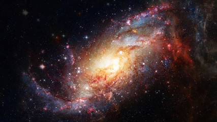 Spiral galaxy creative background. Elements of this image furnished by NASA.