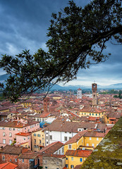 View on Lucca, Italy