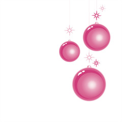 Purple Christmas balls isolated on White background. Vector EPS 10 cmyk