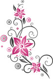 kirschbl ten mit ranke und schmetterlingen cherry blossoms with butterflies stockfotos und. Black Bedroom Furniture Sets. Home Design Ideas