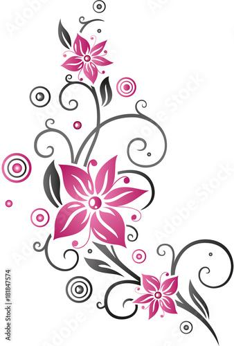 """""""blumenranke mit großen blüten sommerblumen pink"""