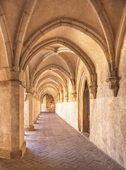 Medieval cloister in Zvikov castle