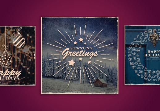 Textured Holiday Social Media Set