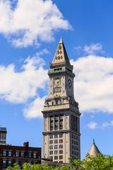 Top Half of Boston Clock Tower