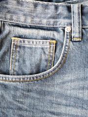 Close up pocket on jeans