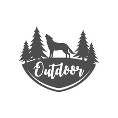 Outdoor and adventure logo design template