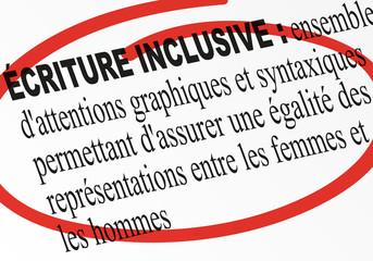 orthographe - grammaire - genre - écriture - littérature - inclusive - féminin - masculin - dictionnaire