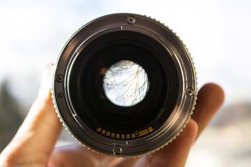 view through the camera lens