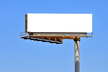 Large Billboard On Clear Blue Sky