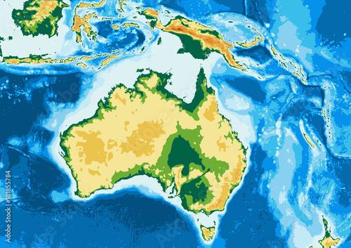 Australia physical map\
