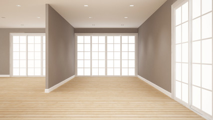 empty room for artwork room for rent of apartment or home - Interior design - 3D Rendering