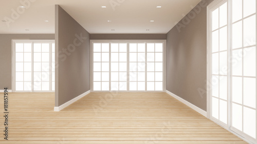 empty room for artwork room for rent of apartment or home interior