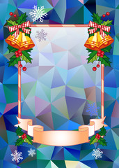Holiday background with jingle bells