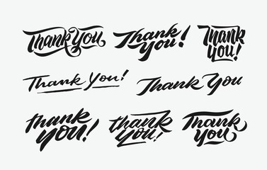 thank you hand written lettering bundle 1. nice to express thanks giving with retro vintage calligraphy and hand made typography.