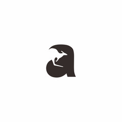 a letter kangaroo logo vector