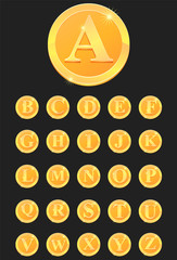 Gold coins or medal set vector