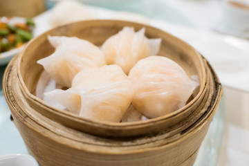 Har gow the dumpling is sometimes called a shrimp bonnet