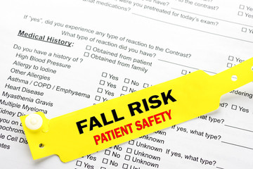 Fall Risk Patient Safety With Hospital  Paperwork
