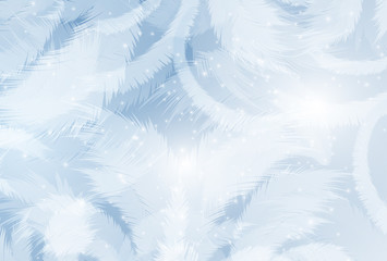 Frozen window background. Vector EPS10.