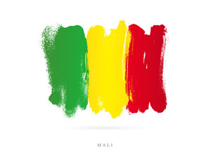 Flag of Mali. Abstract concept