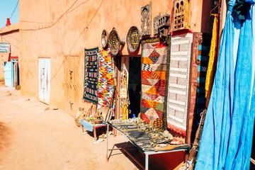 amazing ouarzazate kasbah fortification, morocco
