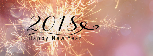 sparklers against a pink backdrop panoramic banner happy new year 2018 quote stock photo and royalty free images on fotoliacom pic 181880971