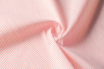 Texture background pattern. Cloth cotton. White in red stripes. Abstract Seamless geometric Horizontal striped pattern with red and white stripes.